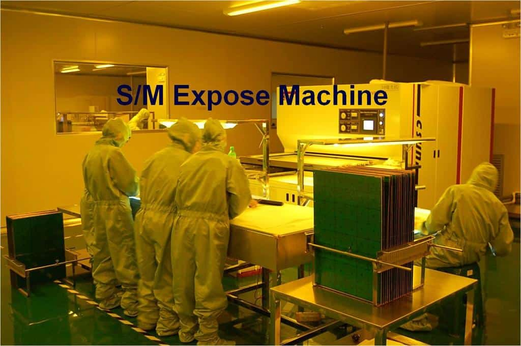 PCB solder mask expose machine