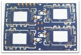 1+HDI design, BGA Pitch: 0.5mm RIGID FLEX PCB