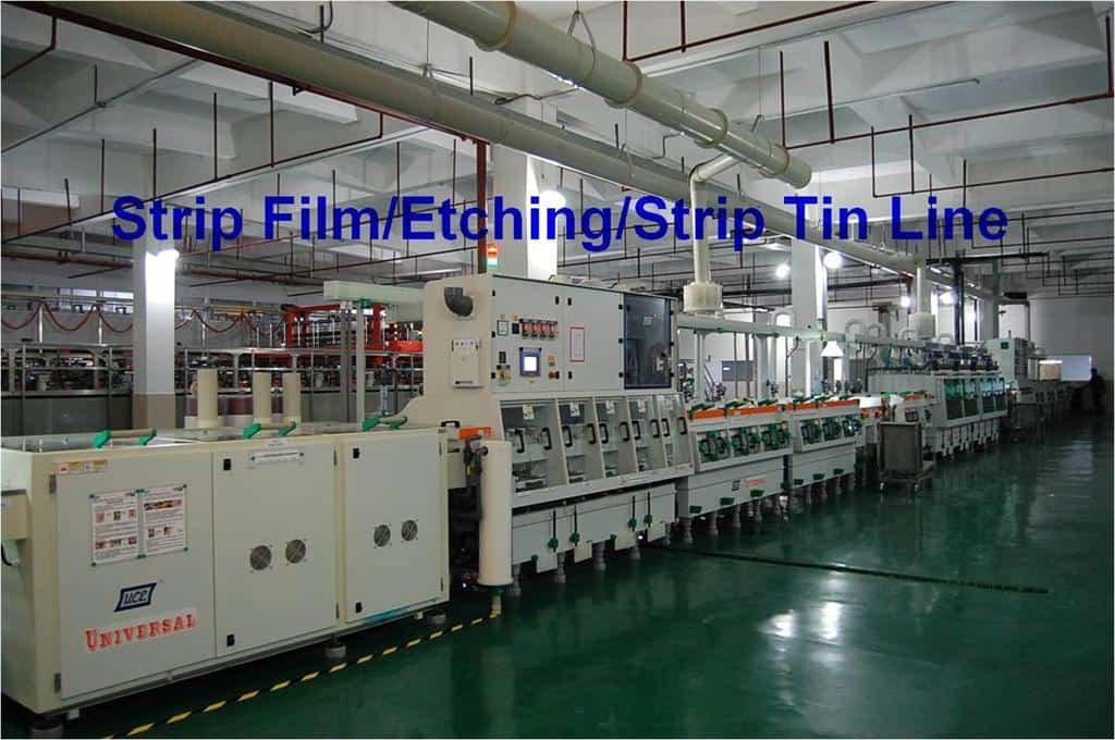 Strip film etching line