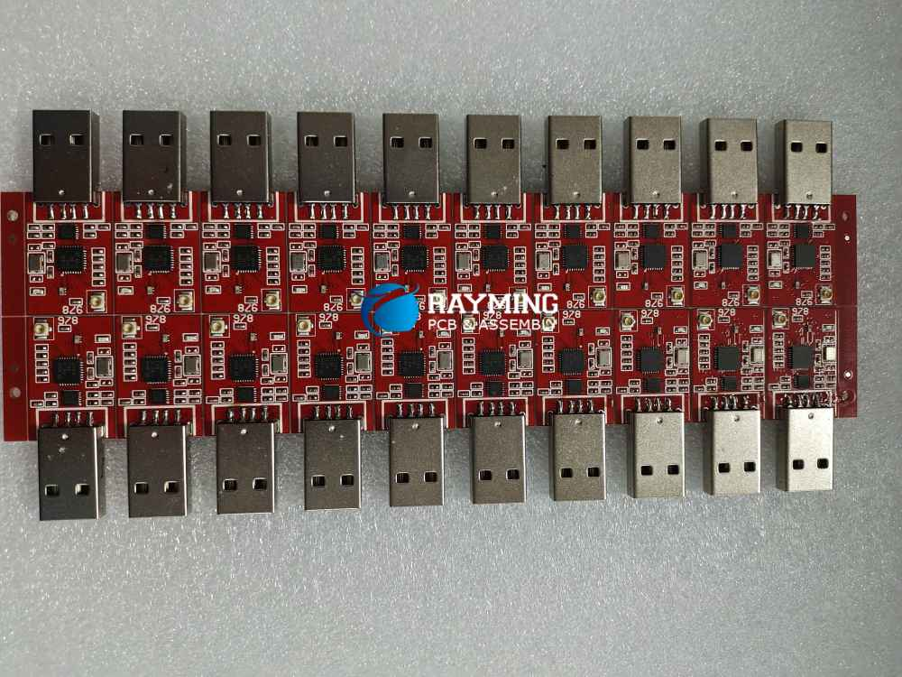 Reflow soldering double sided PCB