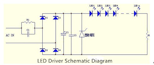 Capacitor Buck LED Driver Schematic Diagram