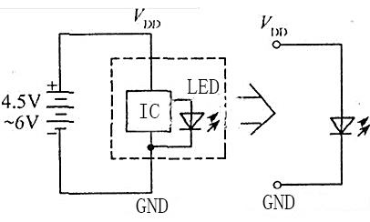 The Schematic Diagram of Flashing LED Application
