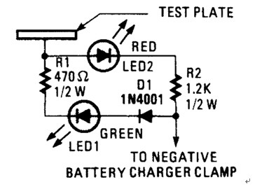 Battery Charger Probe Schematic Diagram to Prevent Battery Damage