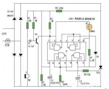 PCB Schematic Diagram of Palm Rejection Sound Control Lamp