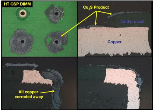 PCB galvanic corrosion
