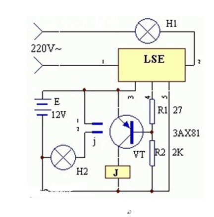 An Emergency Lighting Circuit Diagram