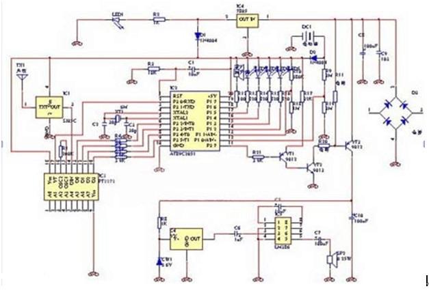 A wireless anti-theft alarm circuit diagram