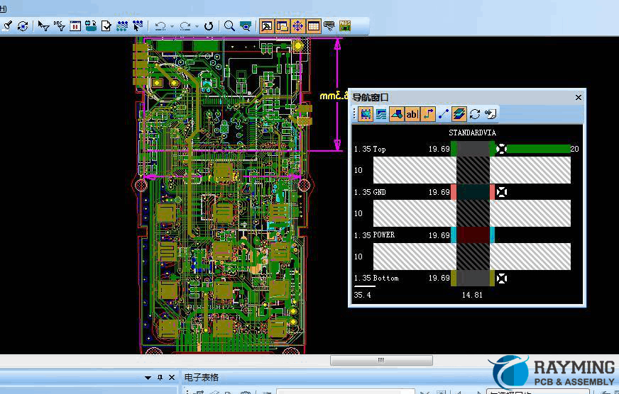 stack up pcb