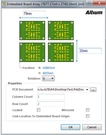 Embedded Board Array & Panelize