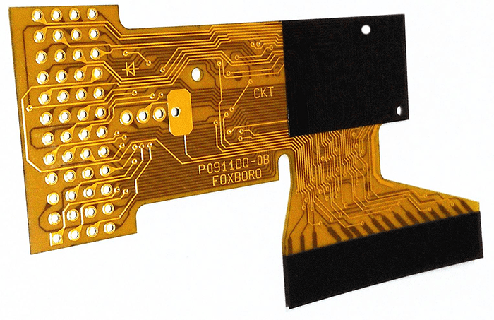 the flexible board requires a stiffener to obtain external support