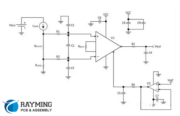 High-side current sensing schematic