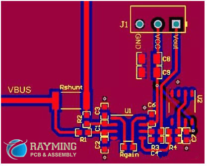 INA common PCB layout