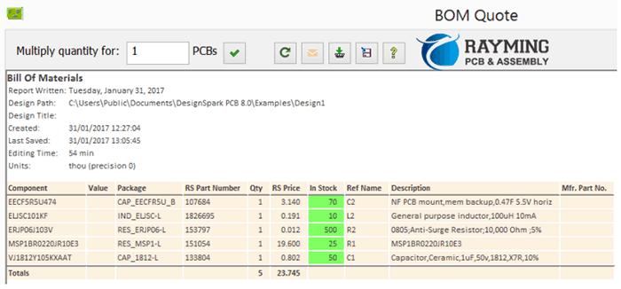 PCB BOM Quotation for PCBA Manufacturer