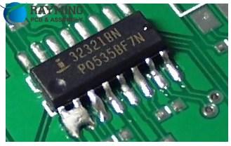Missing solder mask between pads