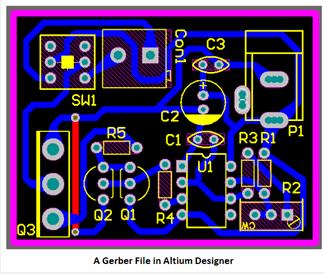 a gerber file in Altium Designer