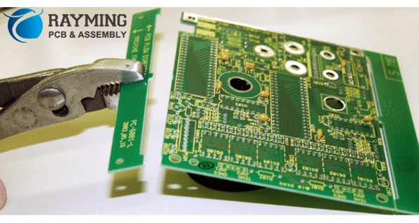 Figure 6, Removing cut-in-hold part from PCB