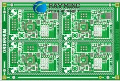 Figure 1,4 to 1 PCB Panelization of same PCB-design
