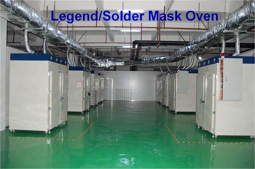 PCB Legend solder mask overn