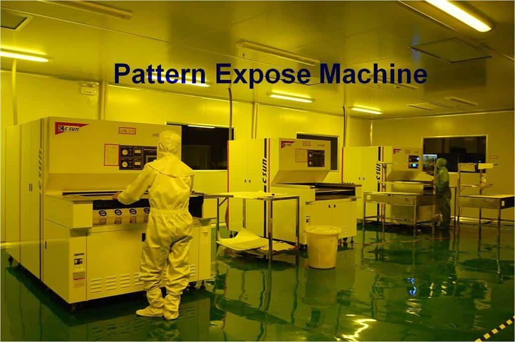 PCB pattern expose machine