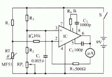 Electronic Thermometer Diagram