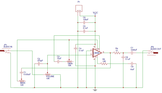 Figure 2 Schematic of a PCB circuit