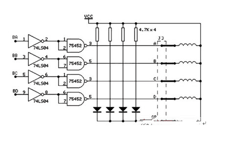 Stepper Motor and Drive Schematic Diagram