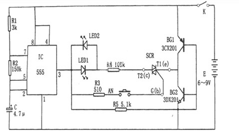The Schematic Diagram of a Charger Composed of BG602