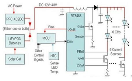 Constant Current Control PCB Schematic Diagram