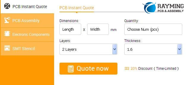 Figure 1,An Instant Online PCB Price Calculator