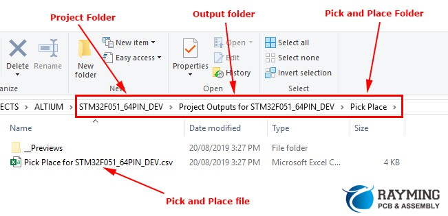 named pick place with .csv format.