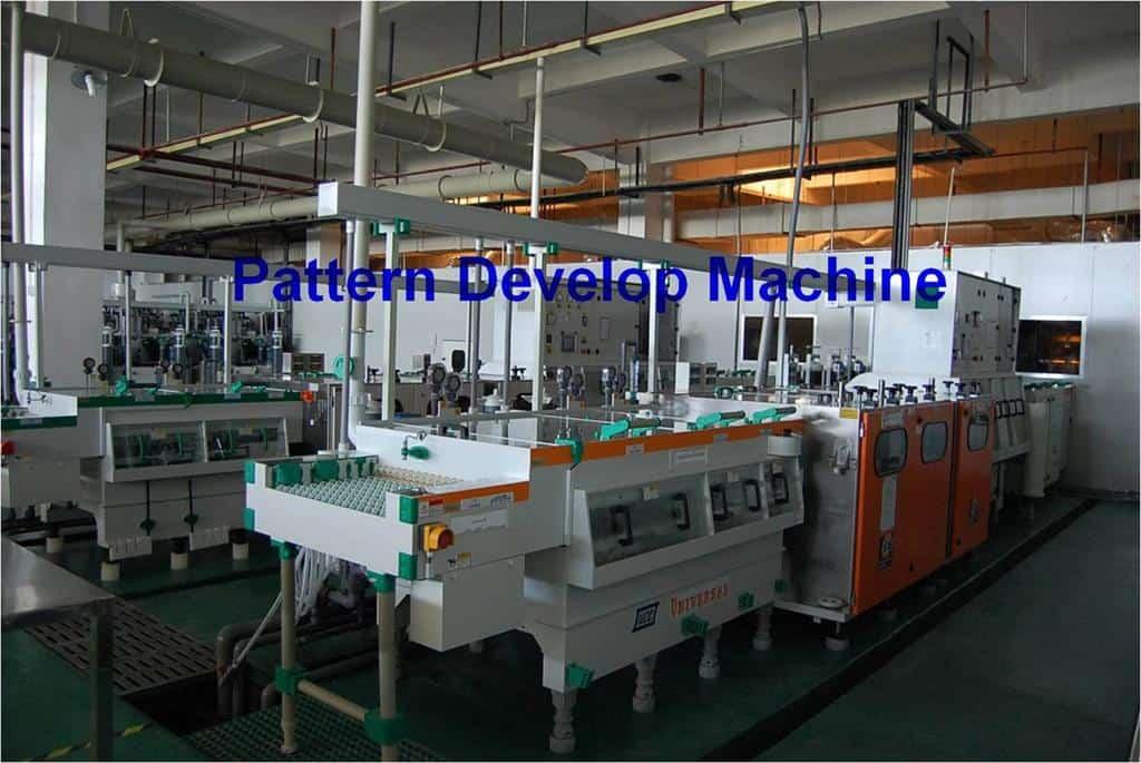 PCB pattern develop machine